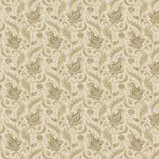 Antique Gold Paisley Drapery and Upholstery Fabric by Fabricut