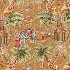 Caramel Animal Drapery and Upholstery Fabric by Vervain
