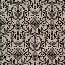 Noir Print Pattern Drapery and Upholstery Fabric by Vervain
