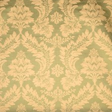 Honeydew Damask Drapery and Upholstery Fabric by Vervain