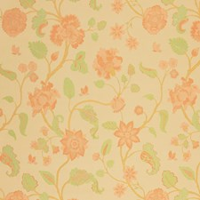 Melon Floral Drapery and Upholstery Fabric by Vervain