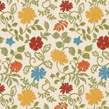 Kiwi Floral Drapery and Upholstery Fabric by Vervain