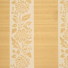 Brass Floral Drapery and Upholstery Fabric by Vervain