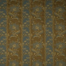 Cinnamon Floral Drapery and Upholstery Fabric by Vervain