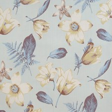 Aquaglace Floral Drapery and Upholstery Fabric by Vervain
