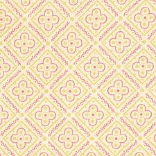 Fuchsia Print Pattern Drapery and Upholstery Fabric by Vervain