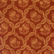 Redwood Floral Drapery and Upholstery Fabric by Vervain