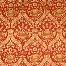Scarlet Damask Drapery and Upholstery Fabric by Vervain