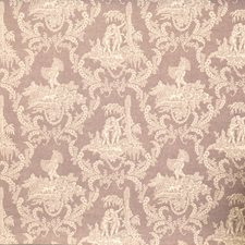 Lilac Toile Drapery and Upholstery Fabric by Vervain