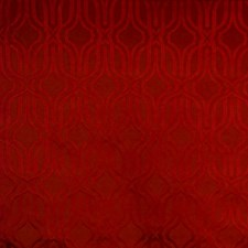 Crimson Geometric Drapery and Upholstery Fabric by Vervain