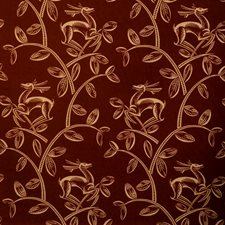 Brick Animal Drapery and Upholstery Fabric by Vervain
