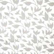 Pewter Leaves Drapery and Upholstery Fabric by Vervain