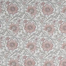 Caliente Red Floral Drapery and Upholstery Fabric by Stroheim
