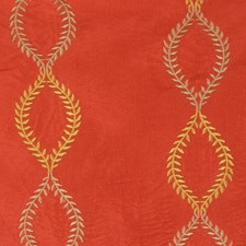 Spice Embroidery Drapery and Upholstery Fabric by Trend
