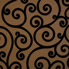 Jet Scrollwork Drapery and Upholstery Fabric by Trend