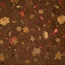 Pecan Embroidery Drapery and Upholstery Fabric by Trend