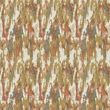 Coral Clay Print Pattern Drapery and Upholstery Fabric by Fabricut