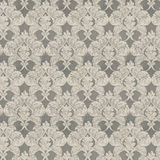 Pewter Damask Drapery and Upholstery Fabric by Fabricut