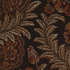 Onyx Floral Large Drapery and Upholstery Fabric by RM Coco