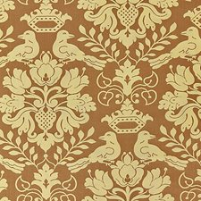 Chocolate/Gold Drapery and Upholstery Fabric by Scalamandre