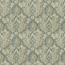 Blue Fog Print Pattern Drapery and Upholstery Fabric by Trend