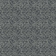 Denim Leaves Drapery and Upholstery Fabric by Trend