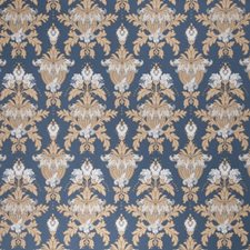 Cobalt Damask Drapery and Upholstery Fabric by Fabricut