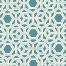 Aqua/Green Geometric Drapery and Upholstery Fabric by Duralee