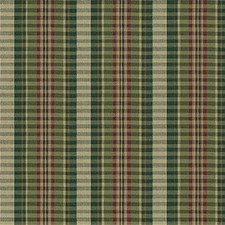 Green/Burgundy/Red Stripes Drapery and Upholstery Fabric by Kravet