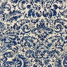 Lapis Print Drapery and Upholstery Fabric by Scalamandre