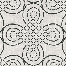 Ivory/Onyx Drapery and Upholstery Fabric by Schumacher