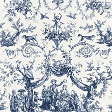 Bleu Drapery and Upholstery Fabric by Schumacher