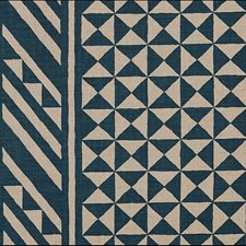 Indigo On Natural Drapery and Upholstery Fabric by Schumacher
