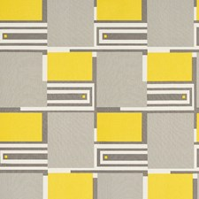 Grey/amp/Yellow Drapery and Upholstery Fabric by Schumacher