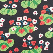 Soft Black Drapery and Upholstery Fabric by Schumacher