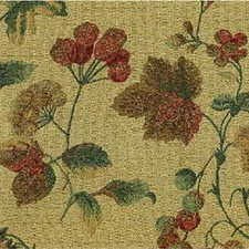 Beige/Burgundy/Red Botanical Drapery and Upholstery Fabric by Kravet