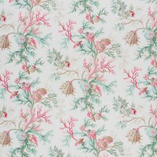 Pink/Aqua Drapery and Upholstery Fabric by Schumacher