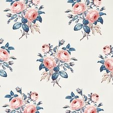Rose/Blue Drapery and Upholstery Fabric by Schumacher