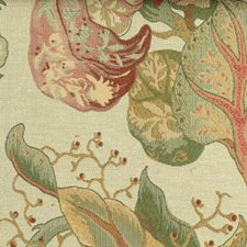 Rose/green Drapery and Upholstery Fabric by Highland Court