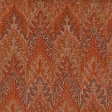 Burnt Orange Drapery and Upholstery Fabric by Highland Court
