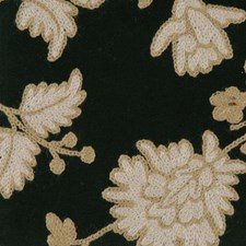 Black/creme Drapery and Upholstery Fabric by Highland Court