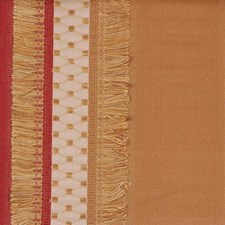 Gold/red Drapery and Upholstery Fabric by Highland Court