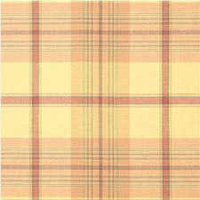 Yellow/Pink Plaid Drapery and Upholstery Fabric by Kravet