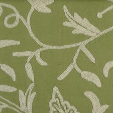 Peridot Crewel Drapery and Upholstery Fabric by Highland Court