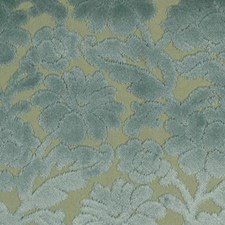 Turquoise/olive Drapery and Upholstery Fabric by Highland Court