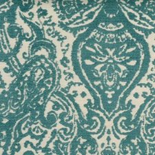 Turquoise Drapery and Upholstery Fabric by Highland Court