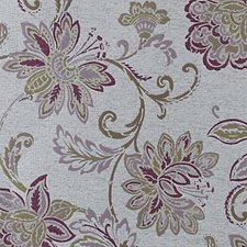 Lilac Floral Large Drapery and Upholstery Fabric by Highland Court