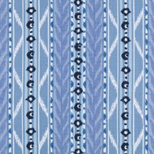 Marine Ethnic Drapery and Upholstery Fabric by Duralee