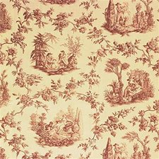 Mauve Toile Drapery and Upholstery Fabric by Lee Jofa