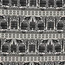 Black Botanical Drapery and Upholstery Fabric by Lee Jofa